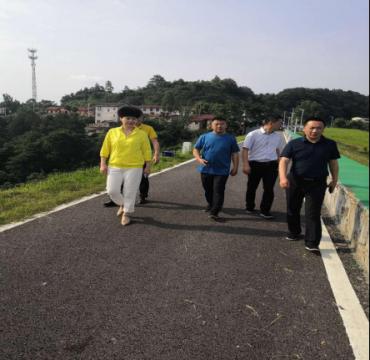 临湘市熊丽副市长巡河 肯定饮用水源地保护工作